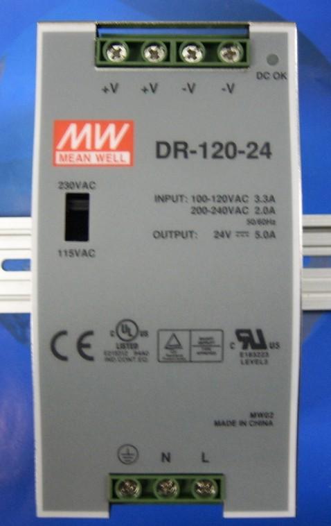 供应台湾明纬开关电源dr-120-24 dr-452412-08; 明纬开关电源;; 供应