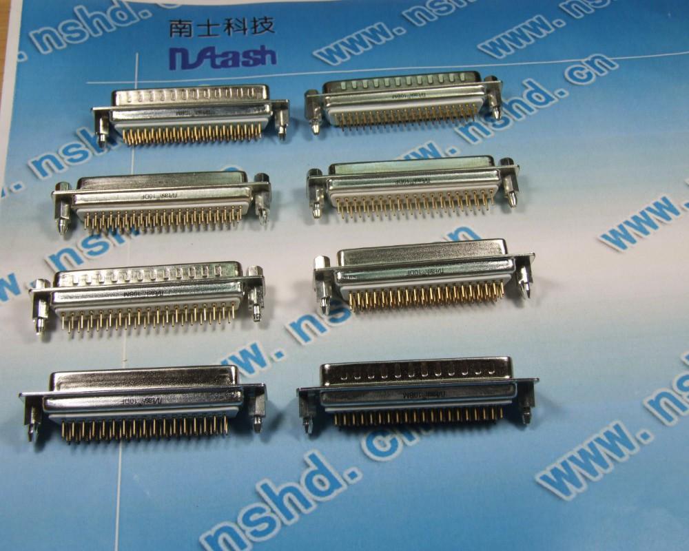 南士DP-插板式 <带鱼叉锁> 连接器<镀金> 9P-78P