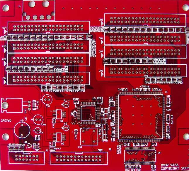 [供应]特殊油墨电路板(红色) fr-4双面,红色油墨 浩保