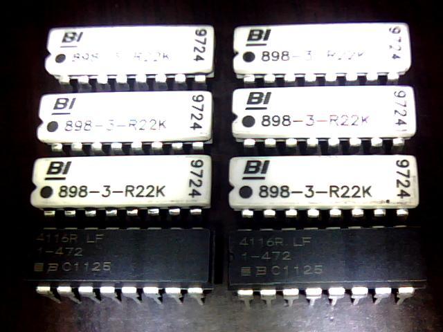 电阻器 双列电阻排 898系列