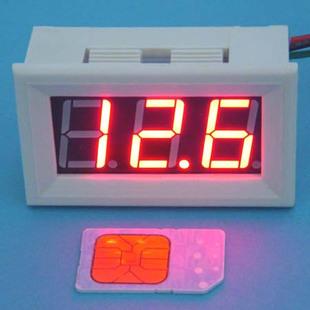 大龟直流数显高亮红色数字数显电压表0v 100v汽车电动车 bt高清图片