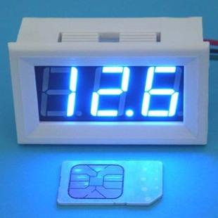 大龟三位直流数显高亮蓝色数字数显电压表100v汽车电动车 bt高清图片