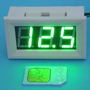 大龟直流数显高亮绿色数字数显电压表0v 100v汽车电动车 bt高清图片