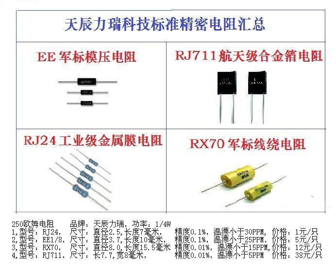 传感器回路电阻250欧姆标准电阻 传感器回路串并联电阻精密标准电阻250欧姆