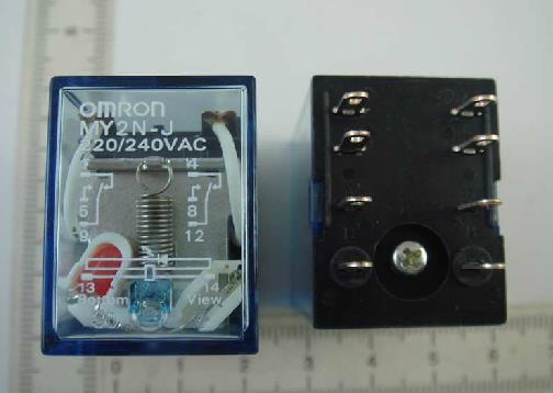 [供应]欧姆龙继电器 my2n-j 220v-240vac 欧姆龙继电器