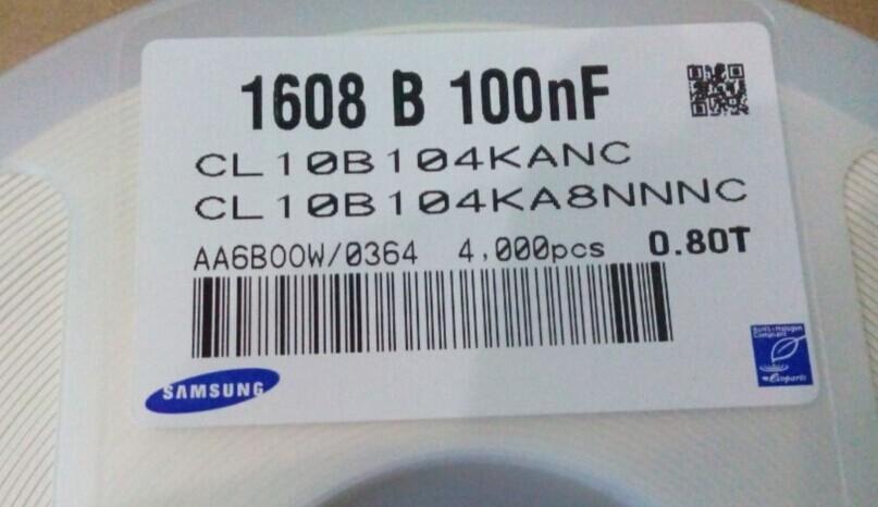 1608 b 100nf三星电容 原装现货供应 1608 b 100nf