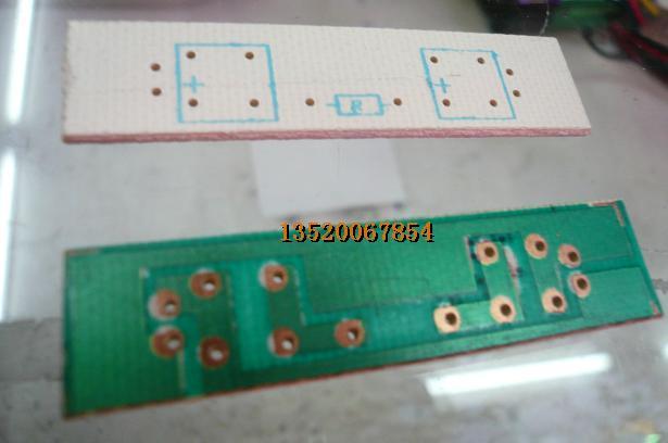 食人鱼led专用线路板 led专用电路板 2灯 1.2厘米宽5厘米长
