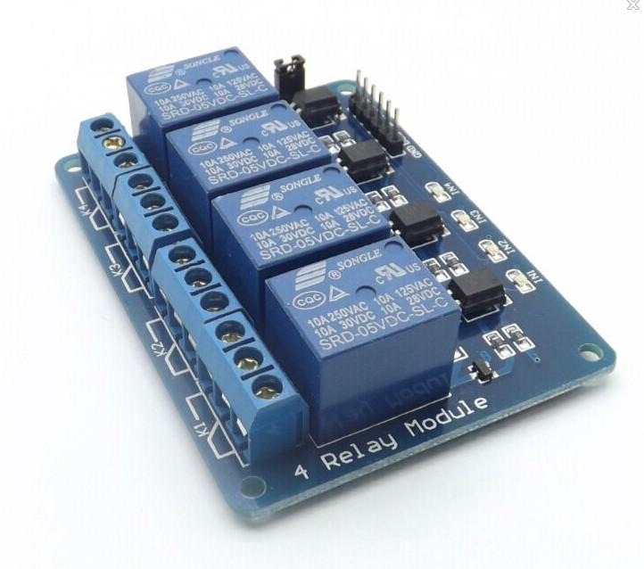 4路继电器模块 5v带光耦