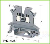 PC轨道式接线端子 PC 1.5