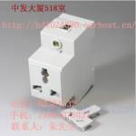 正泰 AC30数字化插座 三孔 10A多功能三极插座 导轨安装 AC30数字化插座 三孔 10A