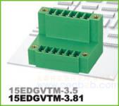 插拔式接线端子 插拔式15EDGVTM-3.81