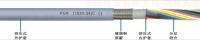 PUR护套屏蔽数据拖链电缆(内护型) 300/300V (18*0.34)C mm