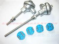 温度传感器PT100耐高温500度  带偶头 带螺纹  带法兰 热电偶