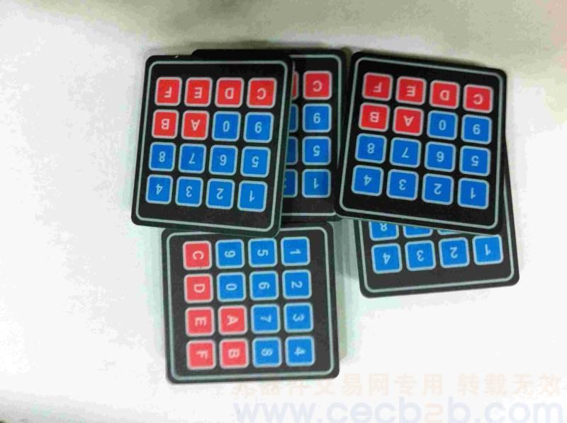 首页 非ic 印刷电路板(pcb) > 供应  薄膜按键a   产品型号:4x4薄膜