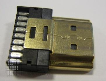 DMI连接器公头 公头铁壳