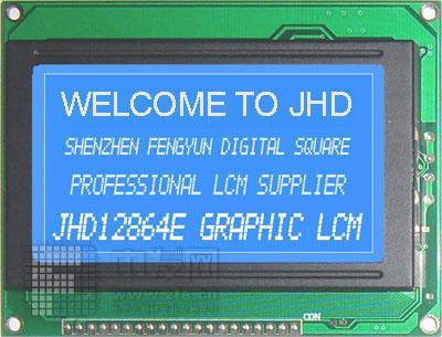 JHD12864A 蓝底白字 JHD12864ABLED7660蓝底白字521