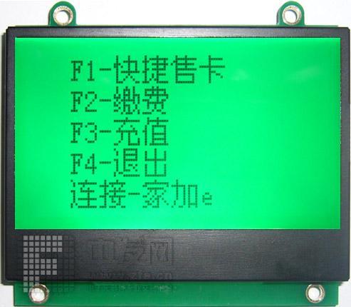 12864F带字库 JHD12864FSTNLED翠绿白光