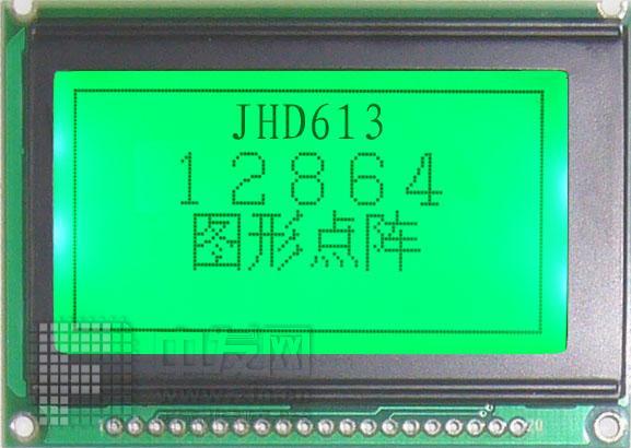 JHD12864-613 JHD12864STNLED7660翠绿613