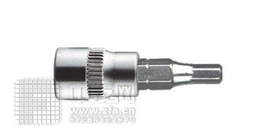6.3mm系列六角旋具套筒1/4DR SK1/4HX3
