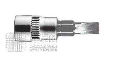 6.3mm系列一字形旋具套筒1/4DR SK1/4SL3.0