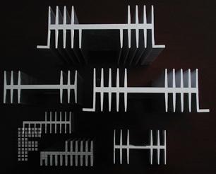 双肋型材散热器 双肋型材散热器