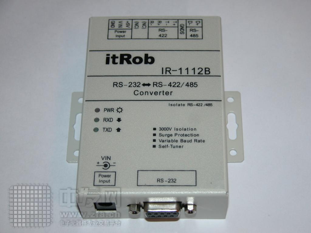 有源的RS232转RS422/485光电隔离转换器 IR1112B